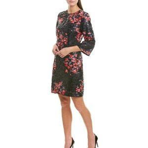 Trina Turk Grenandine Floral Perforated Dress